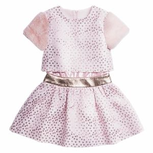 Imoga Metallic Polka Dot Popover dress 5